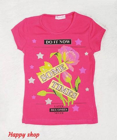 Детская футболка розовая с рисунком
