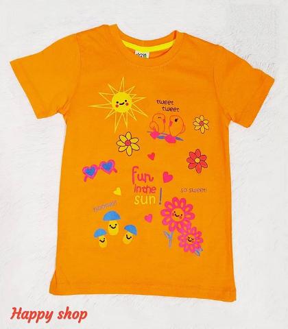 Детская футболка оранжевая с рисунком