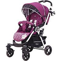 """Коляска детская """"JAZZ Trends"""" RA004 Lines beige Фиолетовый"""