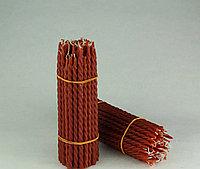 Свечи восковые витые красные 26см, фото 1