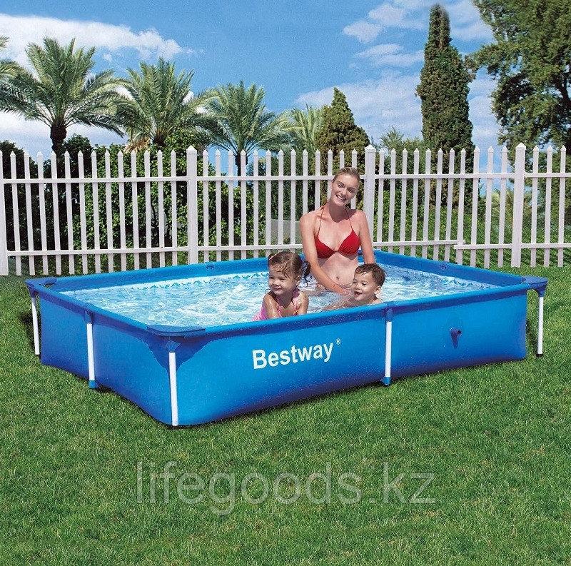 Каркасный бассейн прямоугольный 221х150х43 см, Bestway 56401
