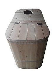 """Кедровая фитобочка """"Комфорт"""" 1000 (Н) х 700(В) х 1220 (L)* 27 мм"""