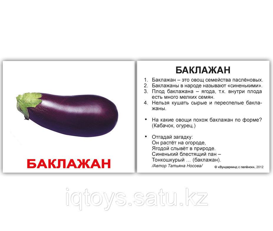 Комплект карточек Овощи с фактами