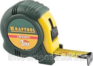 """Рулетка KRAFTOOL """"EXPERT"""" с нейлоновым покрытием, обрезин корпус, 3/19мм, фото 2"""
