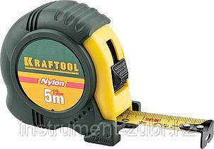 """Рулетка KRAFTOOL """"EXPERT"""" с нейлоновым покрытием, обрезин корпус, 5/19мм, фото 2"""
