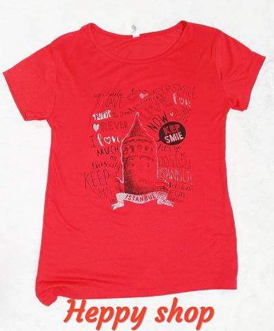 Женская красная футболка Istanbul