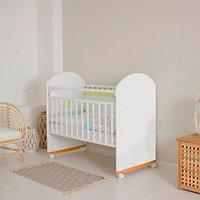 Детская кроватка Incanto Bonito колесо/качалка белый
