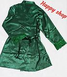 Пеньюар женский зеленый тройка, фото 2