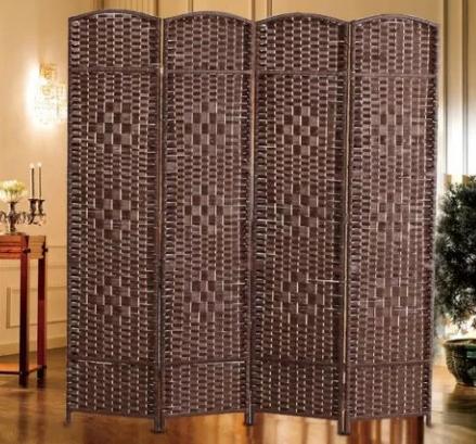 Ширма декоративная коричневая (4 секции), фото 2