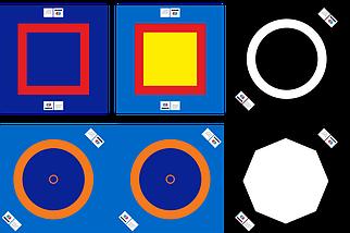 Борцовский ковер 12*12 м (с матами НПЭ 50мм), фото 2