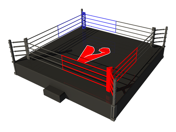 Боксерский ринг на помосте 7,5х7,5 м (боевая зона 6х6 м), помост 1 м, фото 2