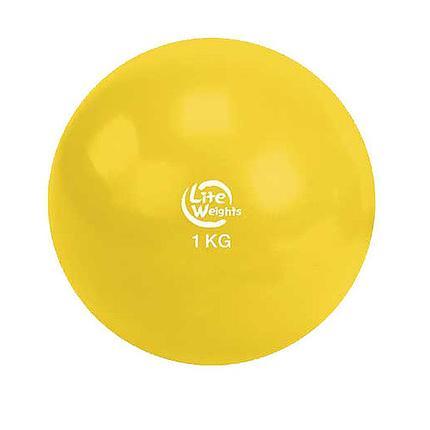Медбол 1кг 1701LW, желтый, фото 2