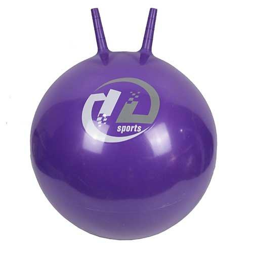Мяч-попрыгун  BB-004-65 с рожками (65см, фиолетовый)