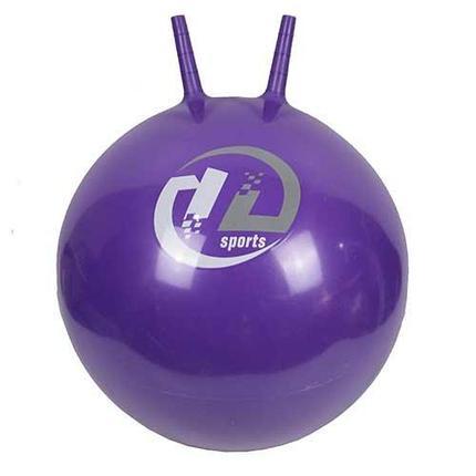 Мяч-попрыгун  BB-004-65 с рожками (65см, фиолетовый), фото 2