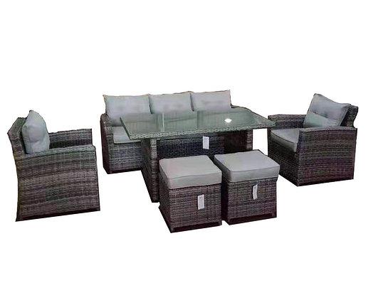 """Обеденная группа """"Токио"""" (стол + 1 диван + 2 кресла + 2 пуфика), фото 2"""