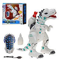 Радиоуправляемый робот-динозавр Yearo Toy Тирекс 2 стреляет ракетами, дышит паром, фото 1