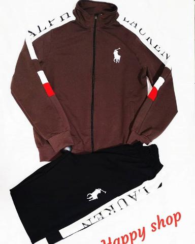 Мужской спортивный костюм Ralph Lauren коричнево-черный