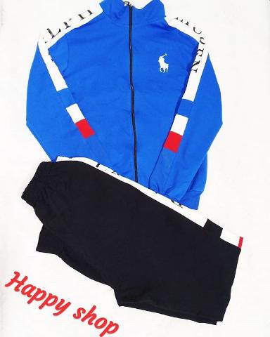 Мужской спортивный костюм Ralph Lauren черно-голубой