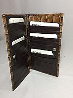 Вертикальное мужское портмоне Bond Non.Высота 18 см, ширина 10 см., фото 1