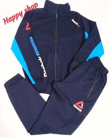 Мужской спортивный костюм Reebok темно-синий
