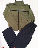Мужской спортивный костюм черно-зеленый