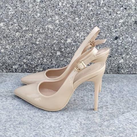 Женские туфли на шпильке бежевые 35-40 размер