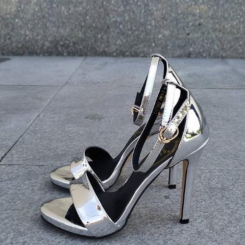 Женские туфли на шпильке с открытым носом 34-39 размер
