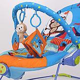 Детский шезлонг LA-DI-DA BR2A-B90035 синий, фото 3