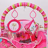 Детский шезлонг LA-DI-DA  BR4A-B90034 розовый, фото 3