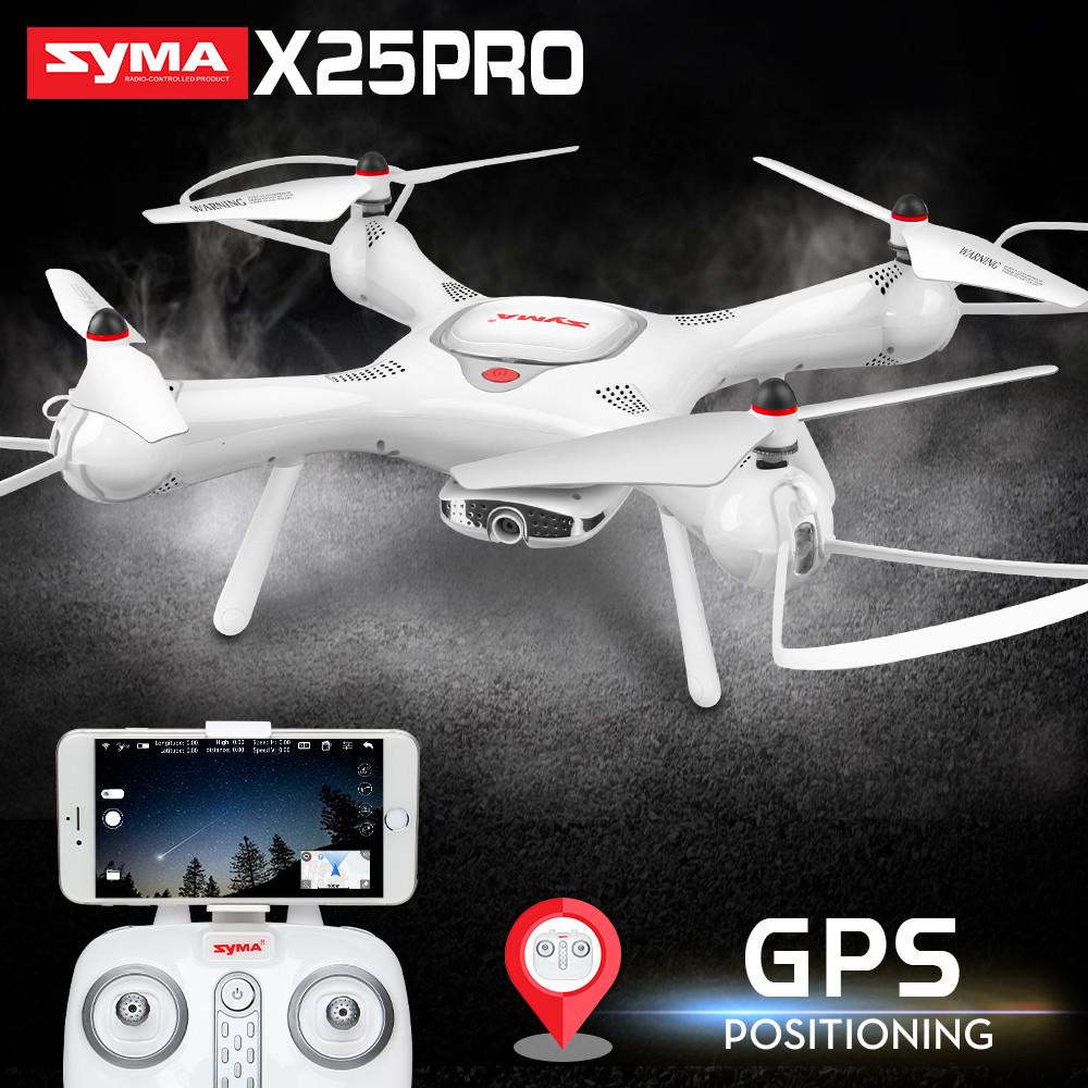 Дрон. Радиоуправляемый квадрокоптер SYMA X25pro, камера авто-возврат. WiFi. FPV белый