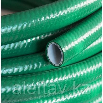 """Шланг поливочный""""Дачник"""" зелёный трёхслойный армированный полупрозрачный1/2дюйма или 13мм,25м, фото 2"""
