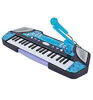 Детский синтезатор B2291-2 с микрофоном 37 клавиш синий