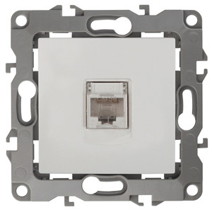 12-3107-01 Розетка информационная RJ45, ЭРА12, белый
