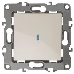 12-1102-02 Выключатель с подсветкой 10АХ-250В ЭРА12, слоновая кость