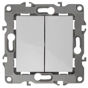12-1106-01 Переключатель двойной 10АХ-250В ЭРА12, белый