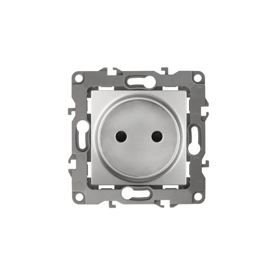 12-2105-03 Розетка 2Р, 16АХ-250В ЭРА12, алюминий