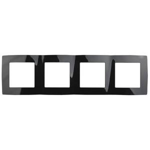 12-5004-06 Рамка на 4 поста, ЭРА12, черный