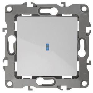 12-1102-01 Выключатель с подсветкой 10АХ-250В ЭРА12, белый