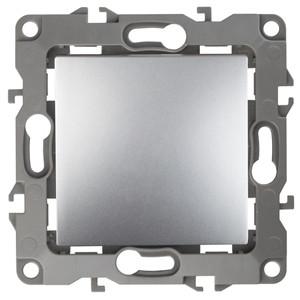 12-1101-03 Выключатель 10АХ-250В ЭРА12, алюминий