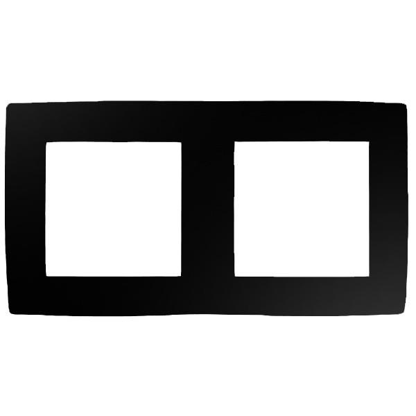 12-5002-06 Рамка на 2 поста, ЭРА12, черный