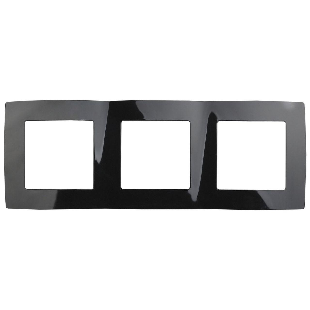 12-5003-06 Рамка на 3 поста, ЭРА12, черный