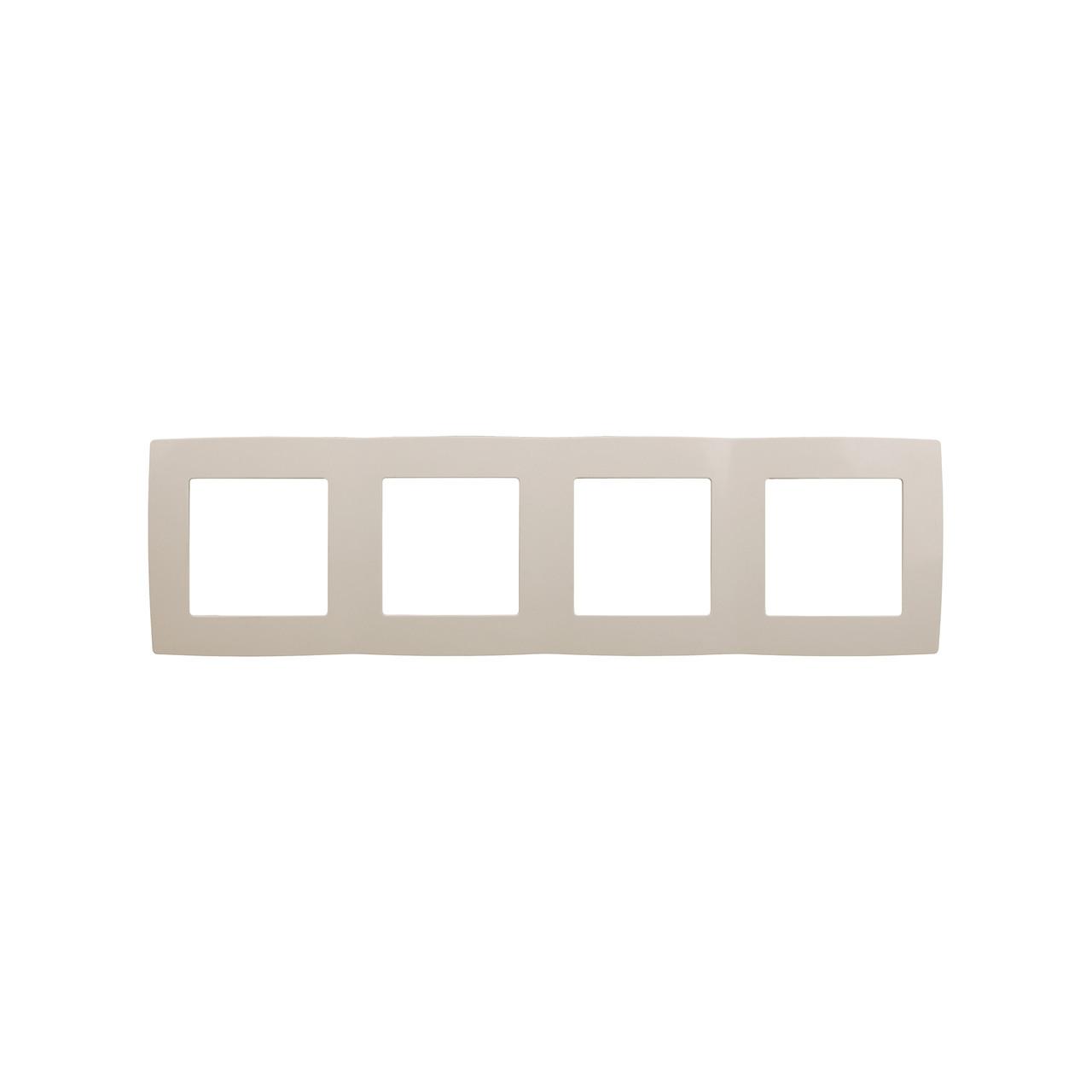 12-5004-02 Рамка на 4 поста, ЭРА12, слоновая кость