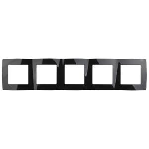 12-5005-06 Рамка на 5 постов, ЭРА12, черный