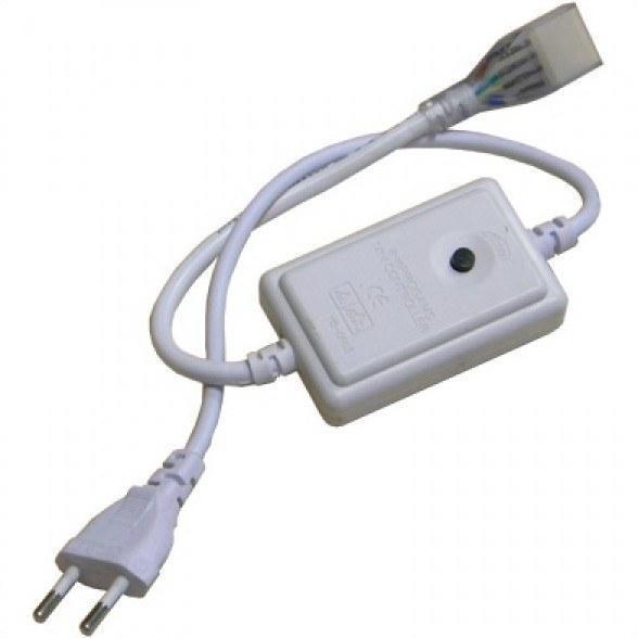 Контроллер 1 кнопка 5050 220 В 15 Вт RGB IP65 8 функций