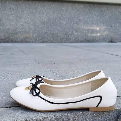 Женские белые балетки 36-41 размер