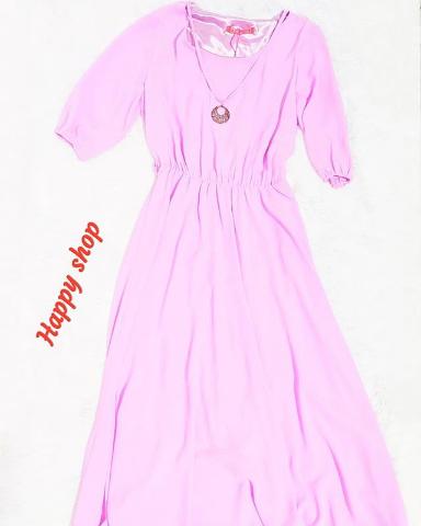 Платье розовое длинное размер 42-48