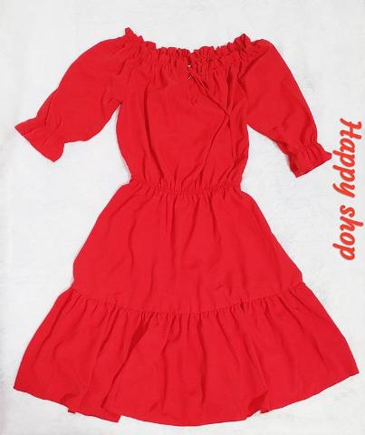 Платье красное с открытыми плечами размер 42-48