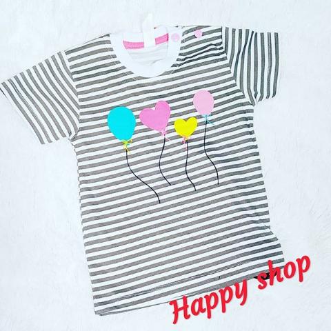 Детская футболка в полоску с принтом