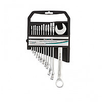 Набор ключей комбинированных, 6-22 мм, 12 шт, CrV, матовый хром Stels