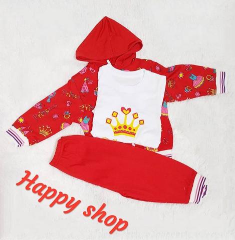 Детский костюм тройка красный